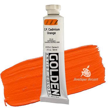 Acrylique Golden Heavy Body 59ml Orange Cadmium 070 S8