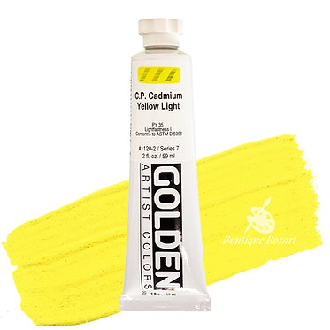Acrylique Golden Heavy Body 59ml Jaune Cadmium Clair 120 S7
