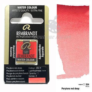 Aquarelle Extra-fine Rembrandt - Rouge Pérylène Foncé 354 série 2