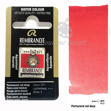 Aquarelle Extra-fine Rembrandt - Rouge Permanent Foncé 371 série 2