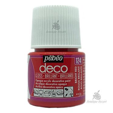 Peinture décorative opaque Deco Brillant Rouge brillant 124