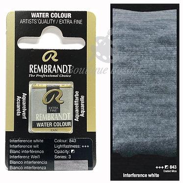 Aquarelle Extra-fine Rembrandt - Blanc interference 843 série 3