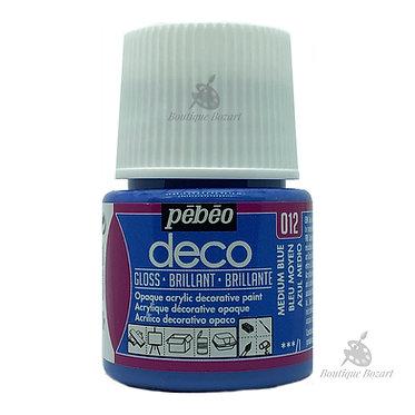 Peinture décorative opaque Deco Brillant Bleu moyen 012