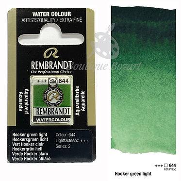 Aquarelle Extra-fine Rembrandt - Vert Hooker Clair 644 série 2