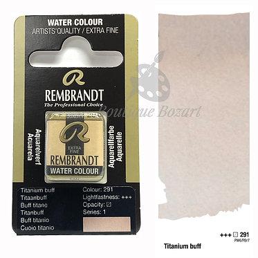 Aquarelle Extra-fine Rembrandt - Buff Titane 291 série 1