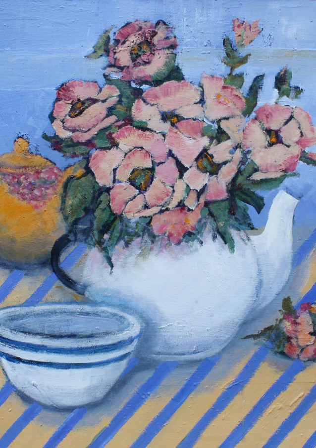 Still Life with Striped Bowl