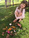 Child with nature art