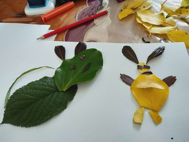 Creatures created from leaves