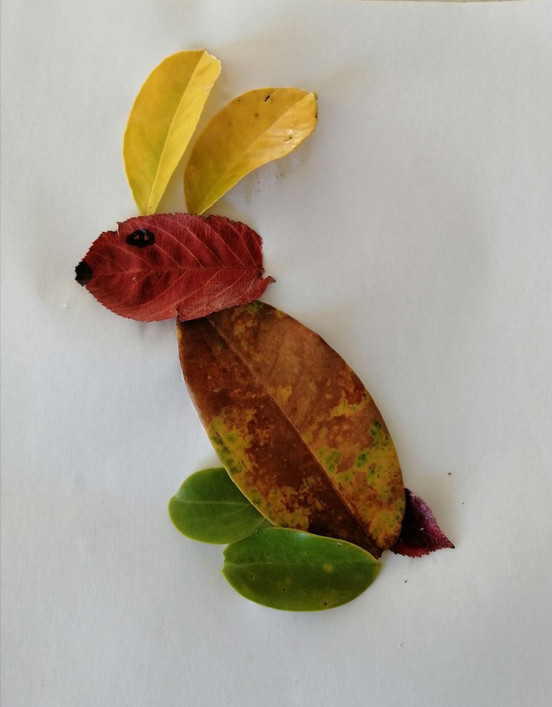 Creature made of leaves