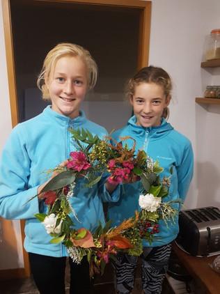 Children with natural wreath