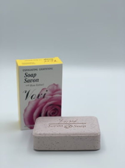 VOVI Exfoliating & Lightening Soap with Rose Extract