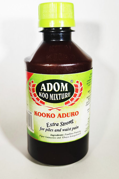 Adom Koo Mixture for effective relief of Constipation, Piles, Waist pains