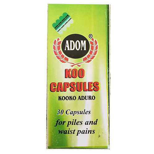 Adom Koo Capsules for Piles and Waist Pain