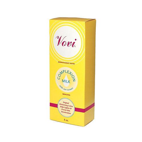 Vovi Moisturizing Complexion Milk helps lighten and prevent skin discoloration.