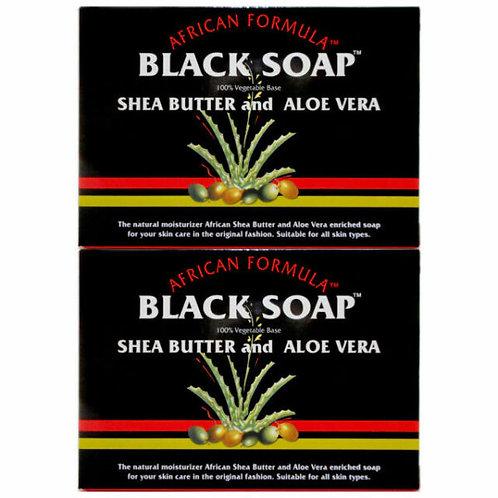 African Formula Black Soap with Shea Butter & Aloe Vera