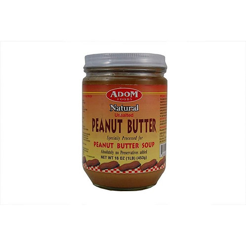 Adom Natural Unsalted Peanut Butter