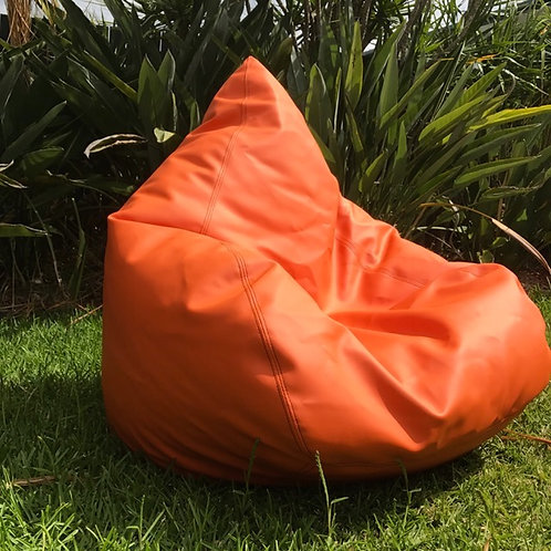 Orange Vinyl Beanbag Cover