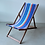 Thumbnail: French Outdoor Canvas Deck Chairs