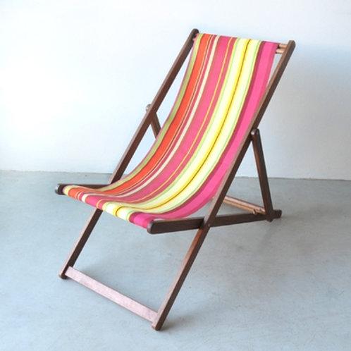 French Striped Deckchairs Cotton Canvas