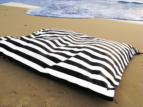 Striped Black Pool Beanbag