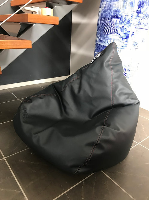 Black / Red Double Top Stitched Beanbag Cover