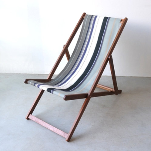 French Outdoor Canvas Deck Chairs