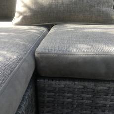 Revêtement canapé extérieur avec plate-bande en Alcantara