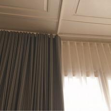 """Double rideaux """"Wave"""" en tissu Carlucci 100% coton"""