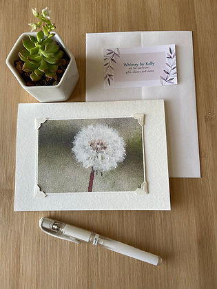 Dandelion Wish Floral Notecard