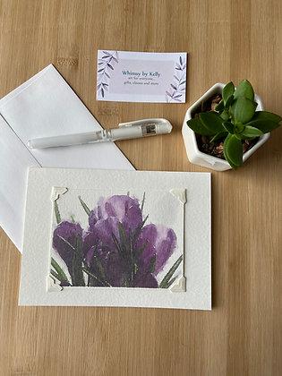 Crocus Floral Notecard