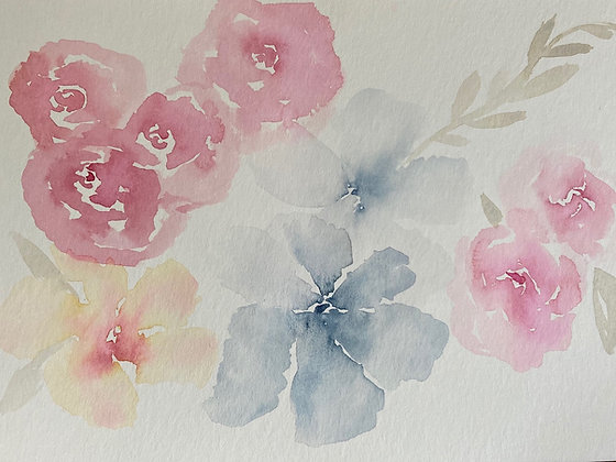 Freeform Florals-One Hour Watercolor