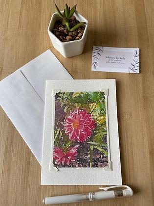 Pink Gerbera Floral Notecard