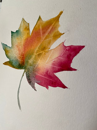 Maple Blooms- One Hour Watercolor
