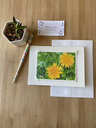 Dandelion Twins Floral Notecard
