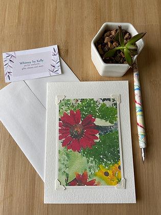 Fall Gerbera Floral Notecard