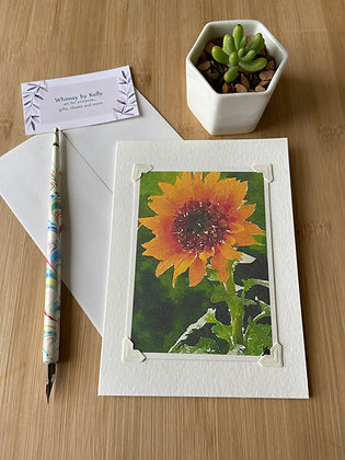 Sunflower Floral Notecard