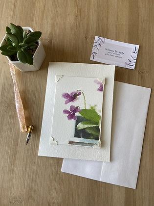 Violet Floral Notecard