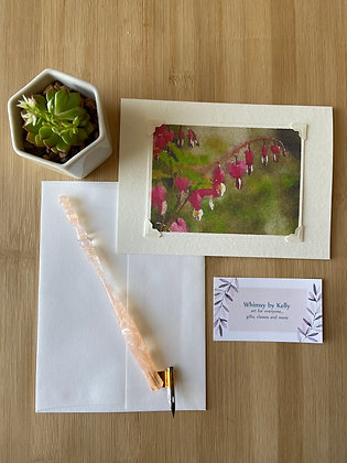 Bleeding Heart Floral Notecard