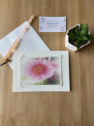 Sunburst Gerbera Floral Notecard