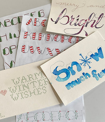 Holiday Lettering (4 week course!)