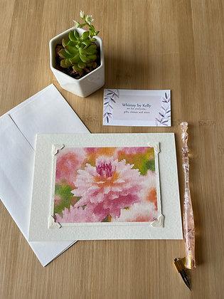 Camellia Rose Floral Notecard