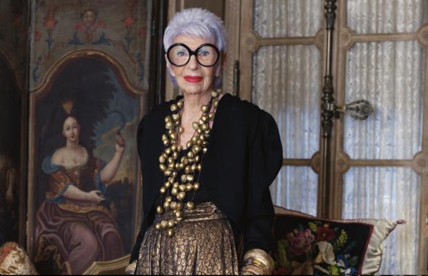 Style Icon, Iris Apfel courtesy of Pinterest