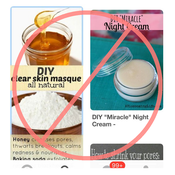 Please Don't Do This to Your Face: Stuff You Found on Pinterest Edition