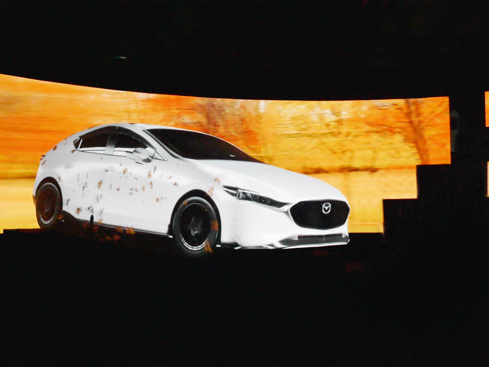 Mazda3 Launch Projection Mapping