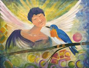 Blue Bird w Angel