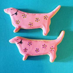 Pink Pups Sugar Cookie