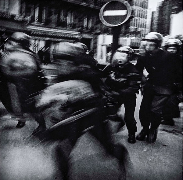 Police charge. Riots. Paris. France