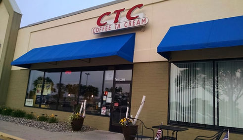 Coffee Ta Cream storefront in Shakopee, Minnesota