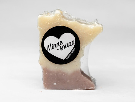 Handcrafted Minnesota state-shaped soap | Fresh smells for the holidays