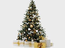 與禮物的聖誕樹